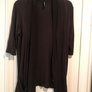 Misses L/XL brown elbow sleeve cardigan